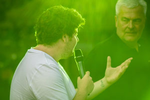 Rene Oliver Moderation bei Misburger Stadtfest